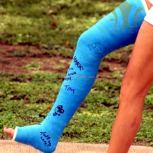 Below the knee custom color synthetic fiberglass casting bandage