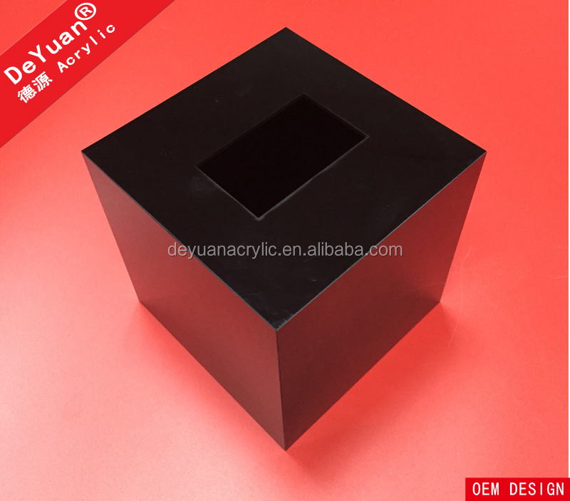 Acrylic box facial tissue in dubai/ acrylic square tissue box