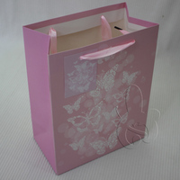 Customized golden dusting glitter gift paper bags for event