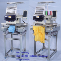 15 colors single head new embroidery machine used for cap t-shirt embroidery