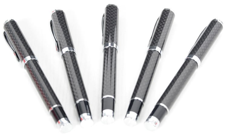 Top quality Factory Supply Classical Black full Carbon Fiber Ballpoint pens