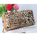 fashion leopard PU Wallet with double zippers