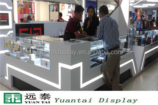 Customized cell phone accessories kiosk in Shopping Mall