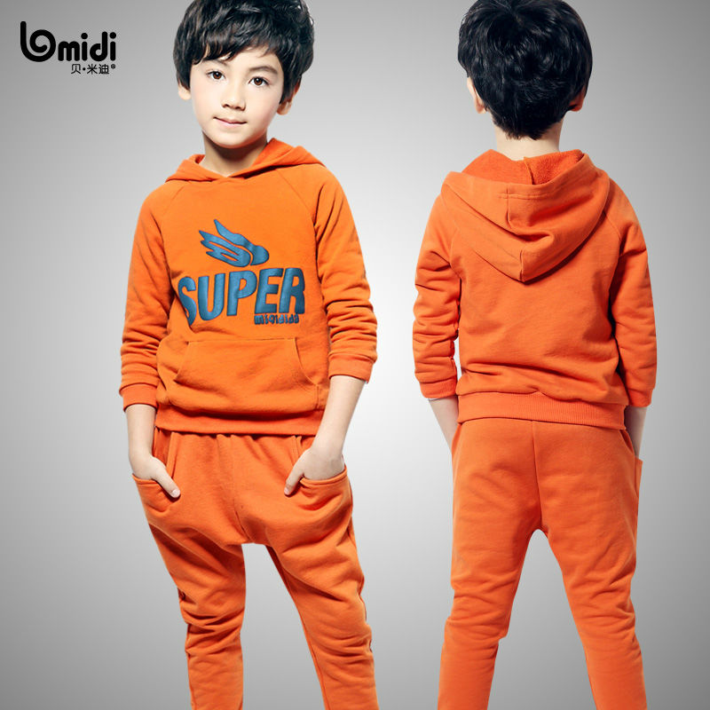 2013 Spring fashion children leisure clothes sets track suit for boys sport set