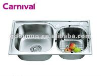 kitchen stainless steel hand wash basins K7641A