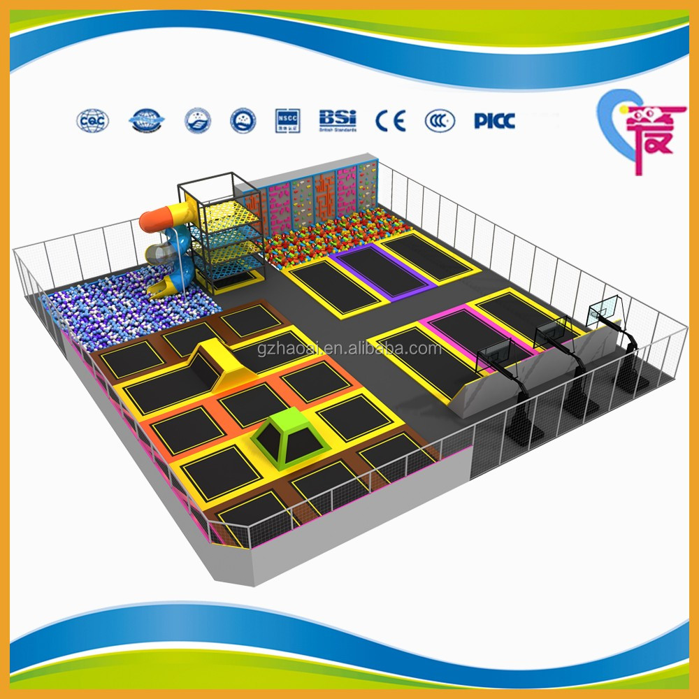 A-15253 Excellent quality professional indoor trampoline park for sale