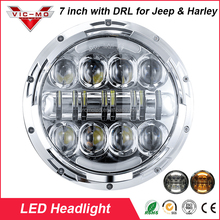 Wholesale 7 inch Round 80w DOT, SAE, E9 Certified Led Headlight with DRL for Harley & Jeep