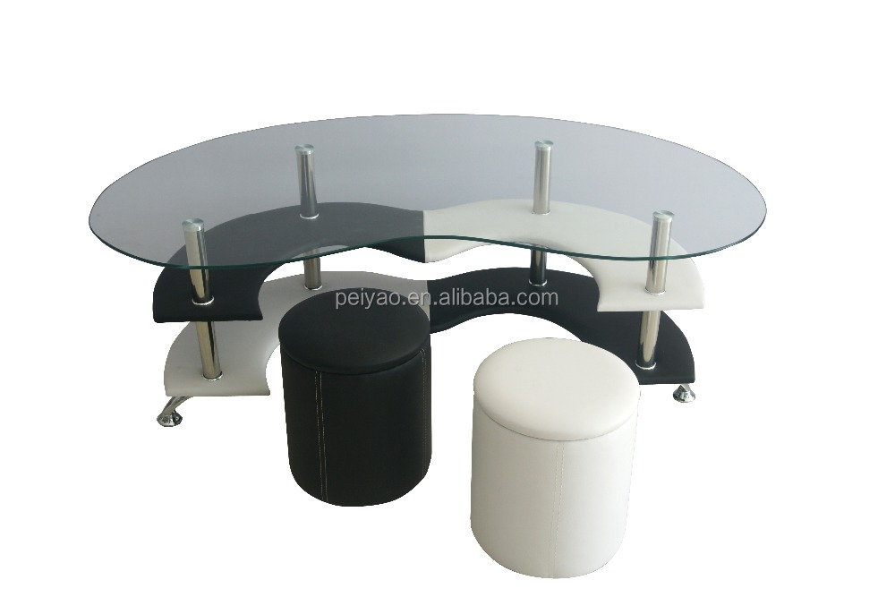 Space Saving Coffee Tables White And Black Color Buy Space Saving Coffee Tables Black And