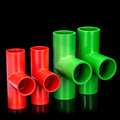 PVC Conduit Pipe Tee / PVC Electrical Fitting in Green and Red Color