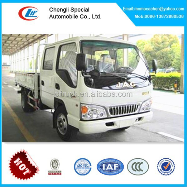 Mini double cabin cargo truck double cab mini trucks of JAC