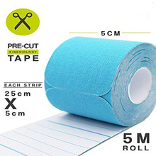 Latex Free Muscle Tape Sports Taping & Strapping 5cm x 5m Precut Roll Kinesiology Tape
