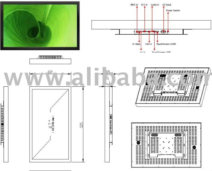 47'' Industrial Chassis Monitor