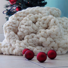 Handmade Chunky blanket Gift for her Wool blanket Knitted Throw Chunky knit blanket Giant Knit Throw Mother's Day Gift