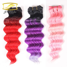 synthetic hair weave crochet braids with synthetic hair Ombre Color 60 inch OEM length and Color