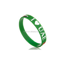promotional gifts cheap price silicone rubber bracelet / printing your logo advertising