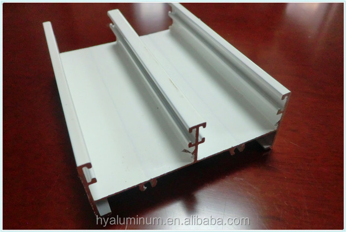 White powder coated windows aluminium extrusion profiles