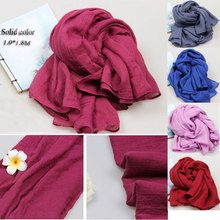 wholesale cheap soft polyester plain promotion scarf