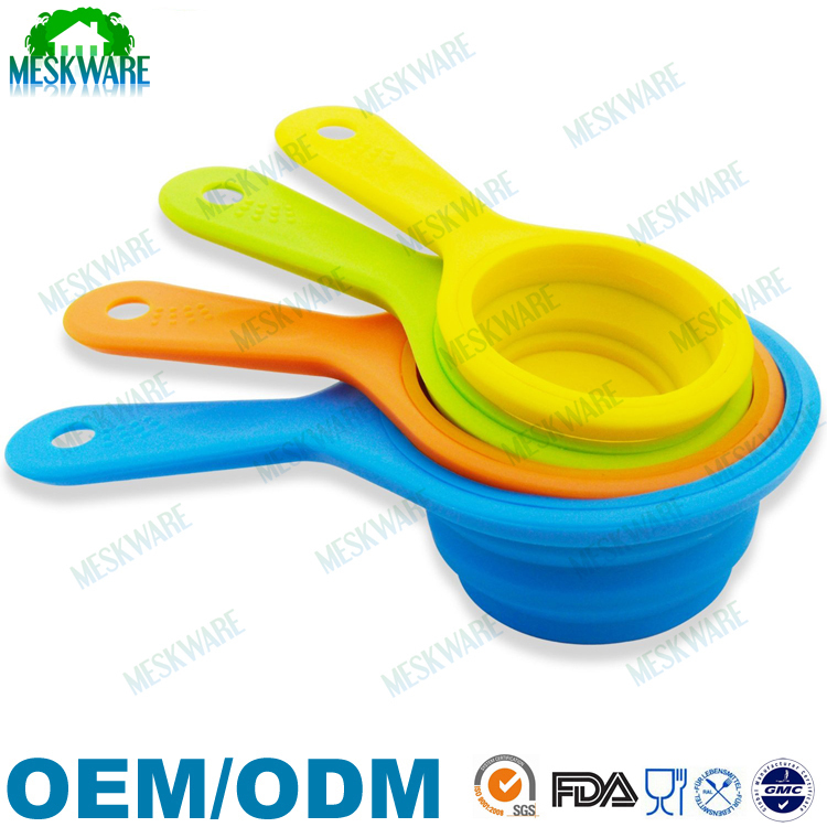 FDA/LFGB collapsible measuring cup tool