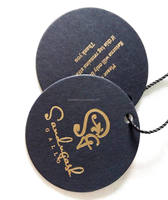 Wholesale round shape gold stamp hang tag/ labels for clothing