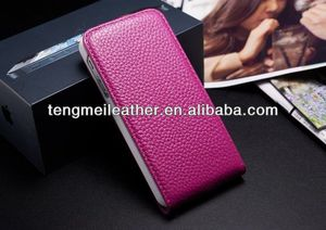 Luxury Genuine Cowhide Leather Flip Cover Case for Apple iPhone 5 5S,Custom cases for iphone5