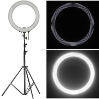 LED Ring Round Light Dimmable dimmer Dim Adjustable Camera Photo Video Portrait Photography Lighting Stand Soft Orange Filter