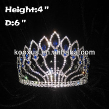 4 inch Full Round Pageant Queen Crowns with Diamond