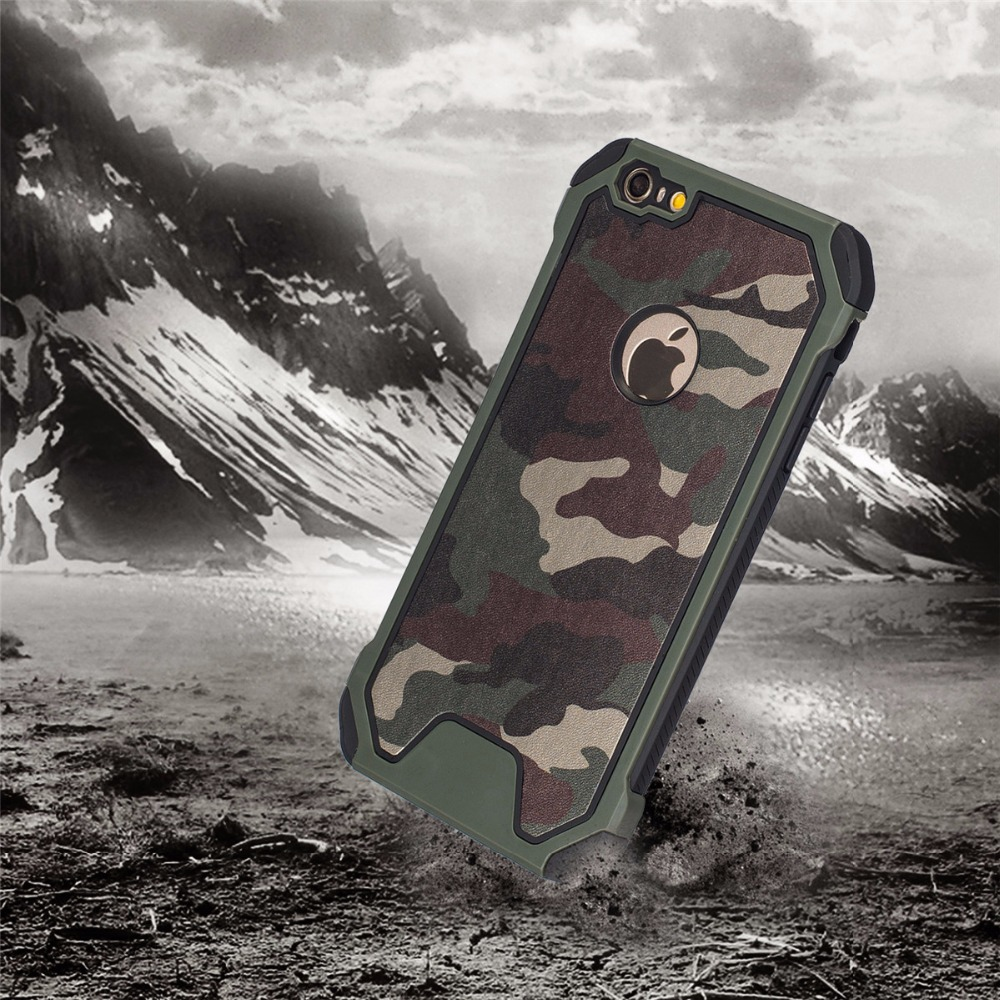 Cool Camouflage Hard Thin Back Case soft TPU Plastic and PU leather For iPhone 5/5s/SE/6/6s/6Plus/6s Plus/7/7Plus