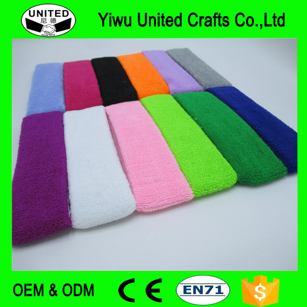 100% Cotton Thick Tower Sports Headband Tennis Badminton Basketball Sweatband