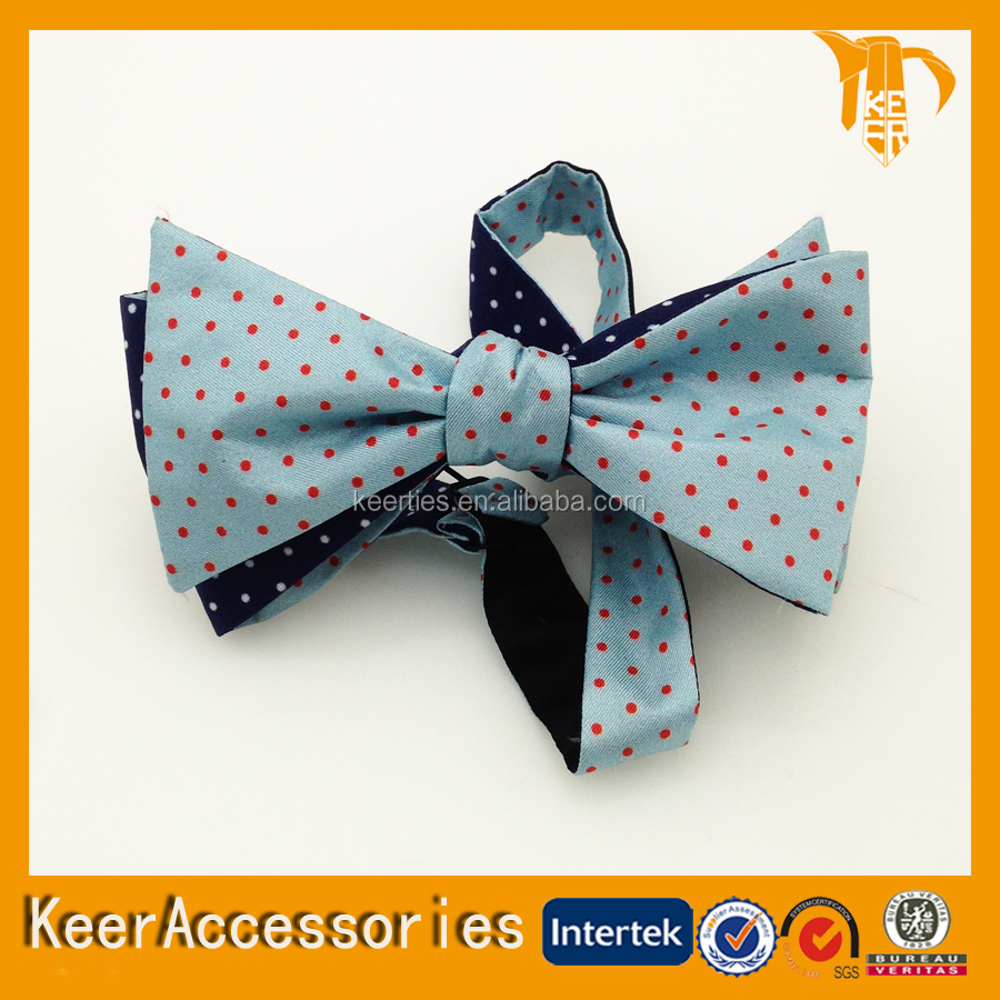 China Manufacture Custom Made Woven Mens Fashionable Cheap Polyester Bowtie