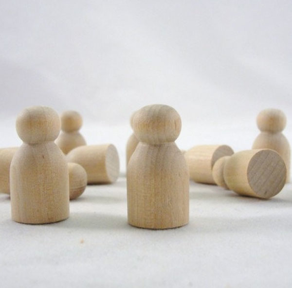 Wooden Baby Mini Peg People Unfinished DIY Custom Handmade Crafts