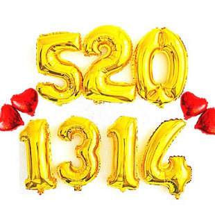 ! Hot-selling 40-inches aluminum gold silver birthday balloons decoration party figures wholesale toy balloons
