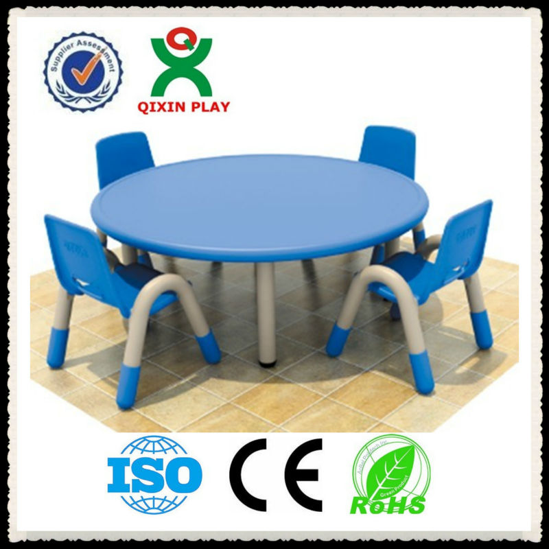 China Cheap Price Round Plastic Table And Chair Set For