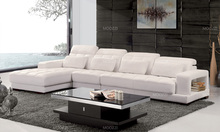 Oval shape portugal leather sofa