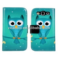 Cartoon PU Leather Pouch Case Cover for Samsung Galaxy S3 S III 3 i9300