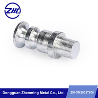 OEM cnc machining carbon steel threaded locating pin steel fixing pin