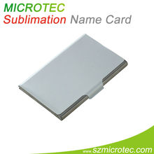 Metal inserts pvc name card case
