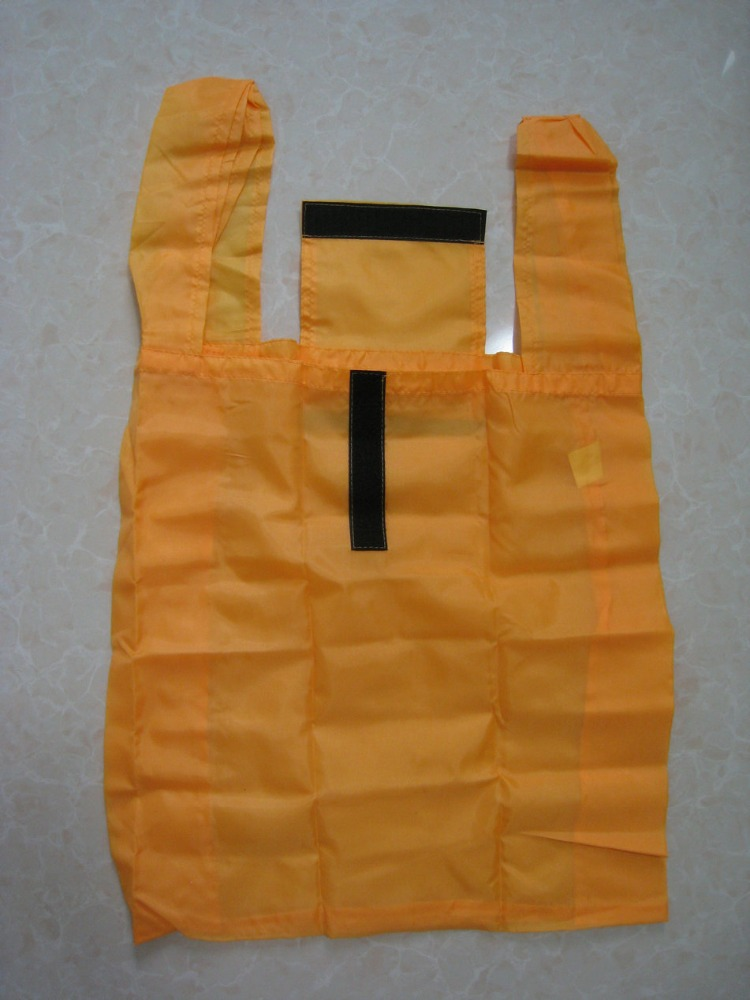 folding shopping bag/foldable bag with velcro closure