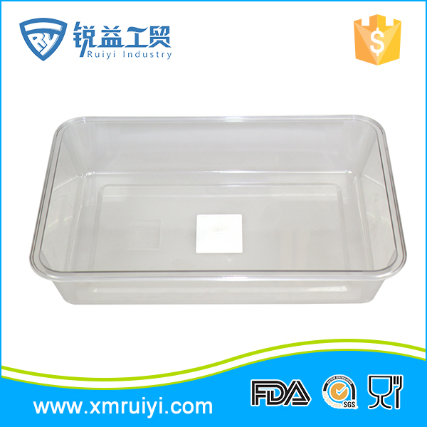 Customized rectangular transparent kitchen dinner food dish plates