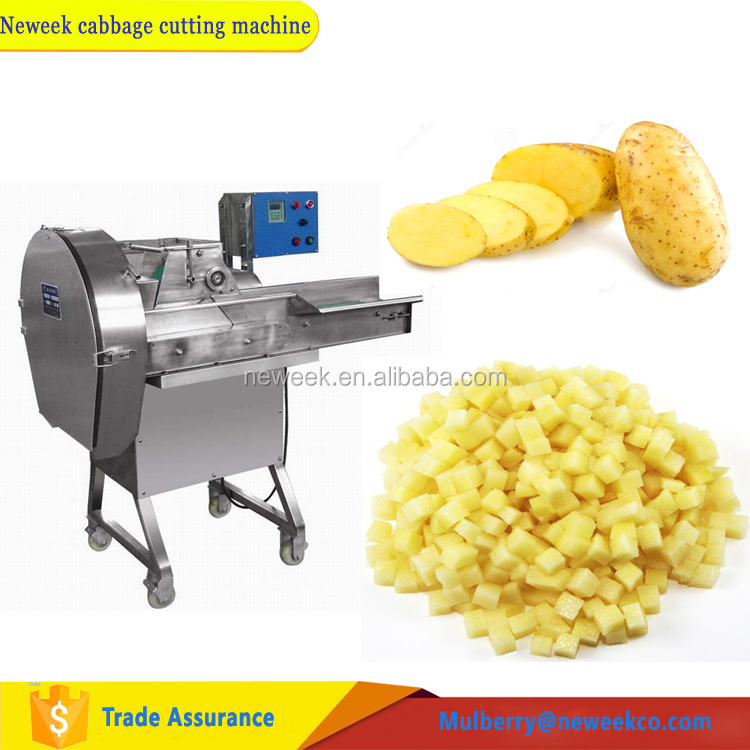 Neweek supply vegetable cube slicing potato chips cutting machine