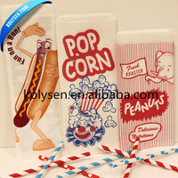Custom Printting Logo Popcorn Packaging Paper Bag