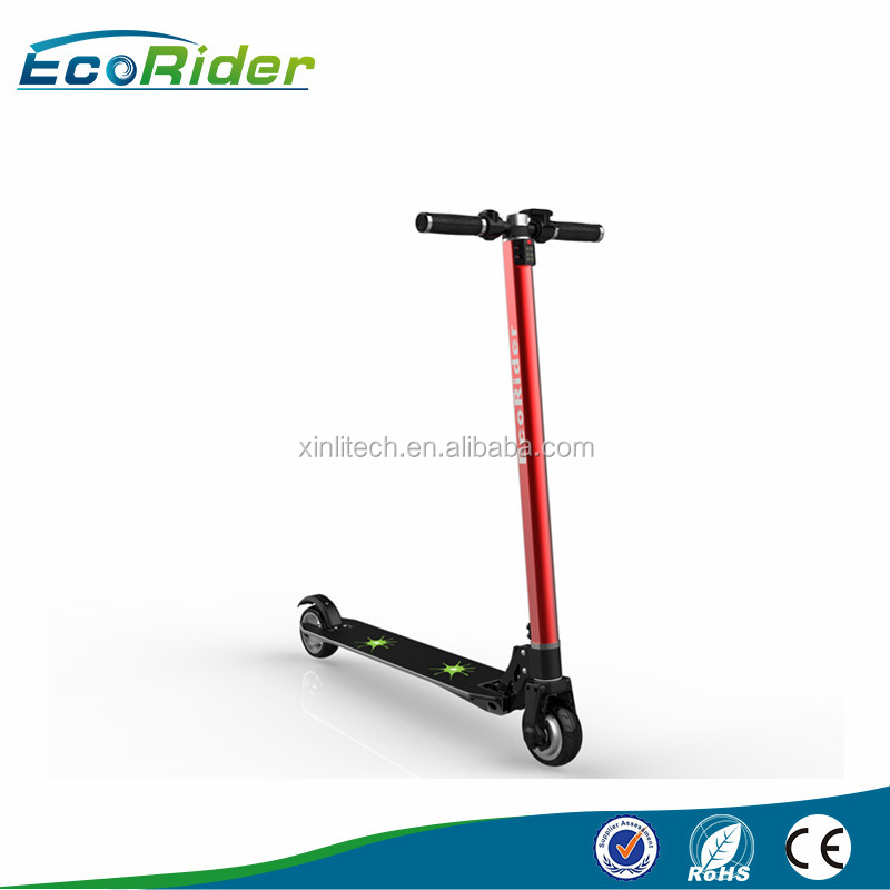 New Arrival 350w Scooter carbon fiber frame two wheel mini electric scooter