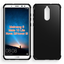 Shockproof soft cellphone case for Huawei Mate 10 Lite Maimang 6, for Huawei Nova 2i Honor 9i collision avoidance tpu case