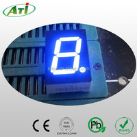 1.5 inch blue color 7 segment led display, 1 digit