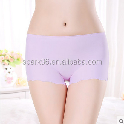 Ice silk seamless nylon women panties wholesale in bulk stock