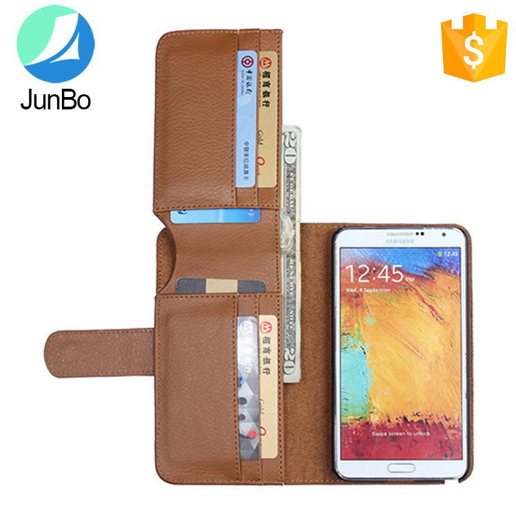 universal wallet style leather flip case for samsung galaxy note 3