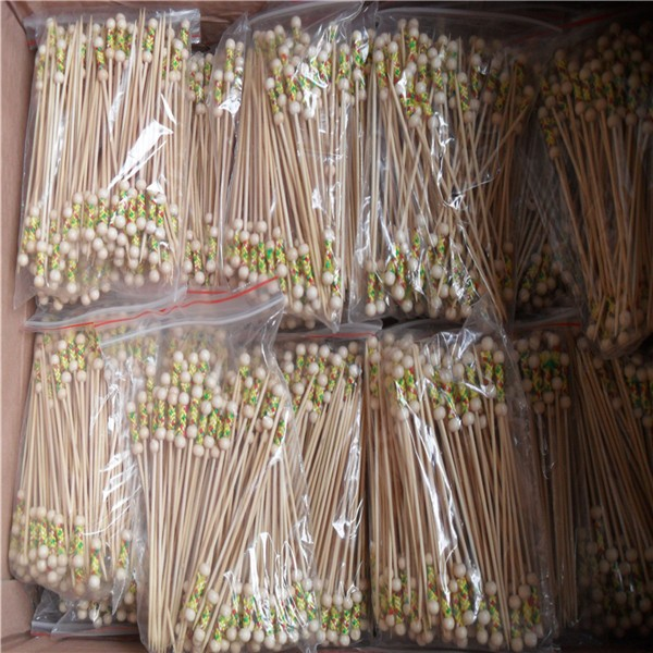 Bamboo sticks With Bead Fruit Sticks