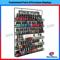 Hot new products wall mounted metal nail polish display stand