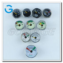 High quality various types customized dial 1inch 23mm 25mm micro small mini pressure gauge