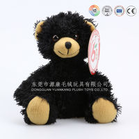 OEM Customized stuffed animal black plush bear toy