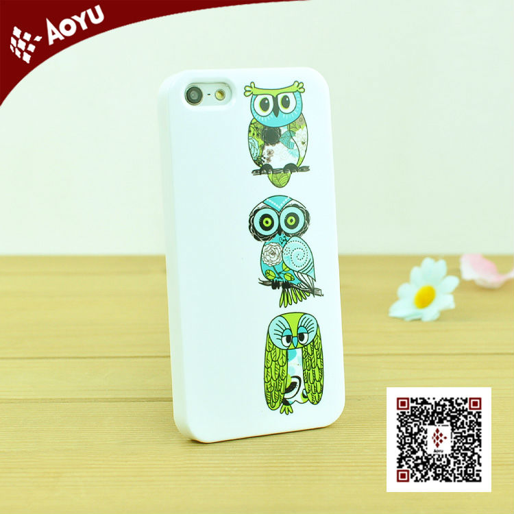 Hot selling case for iphone 4/iphone 5 with 3D sublimation printed with custom design MOQ 20pcs